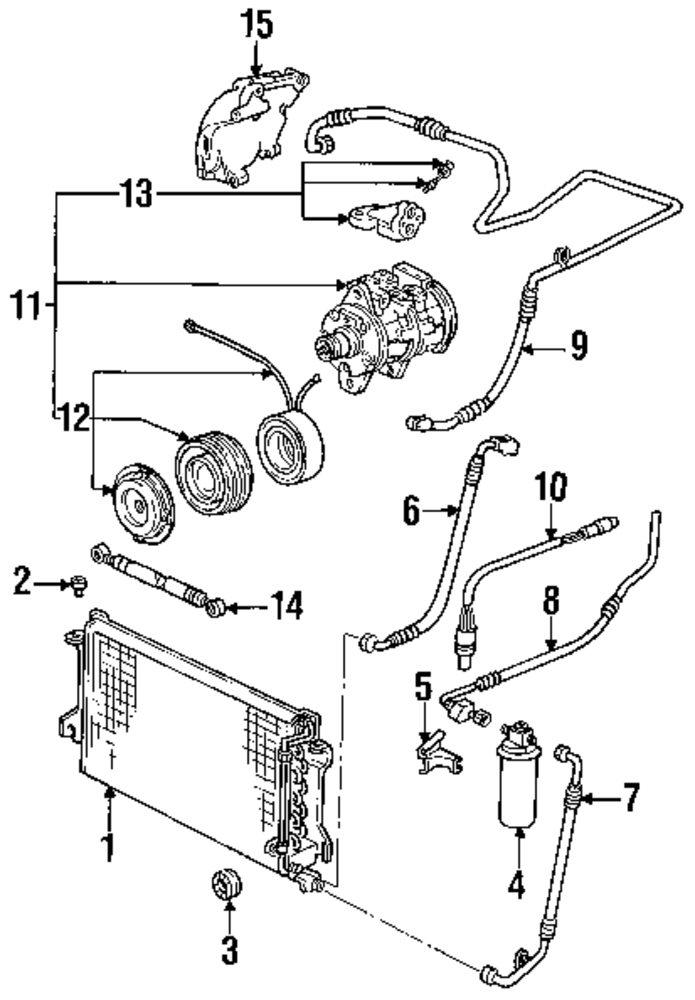 porsche 944 heater parts diagram