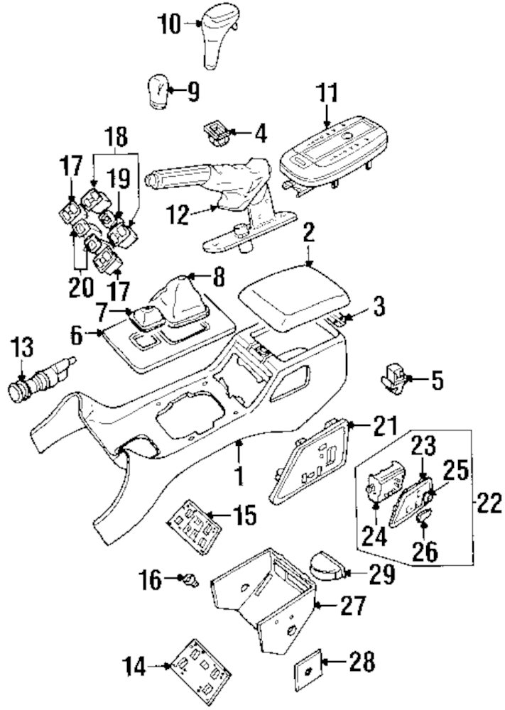 2007 toyota tacoma parts diagram