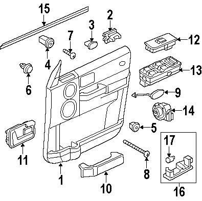 Buy Front Door Interior Trim Parts For Defender 110 Land Rover Lr3 2007 Engine Diagram Genuine Panel Retainer Nut Ran Bnp4106