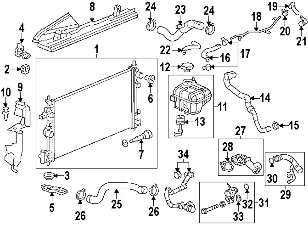 2011 saab 9 5 radiator and components parts