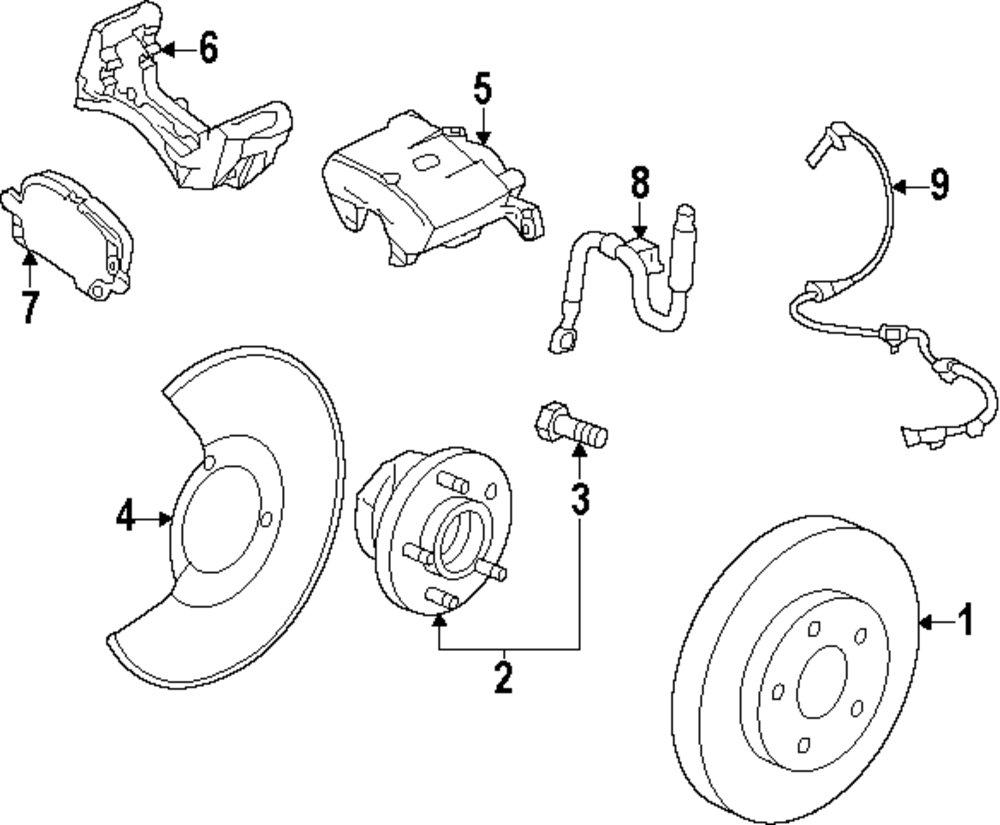 Buy Front Suspension Parts For Saab 9 5 Vehicle Mopardirectparts Brakes Diagram Genuine Abs Sensor Sab 12848538