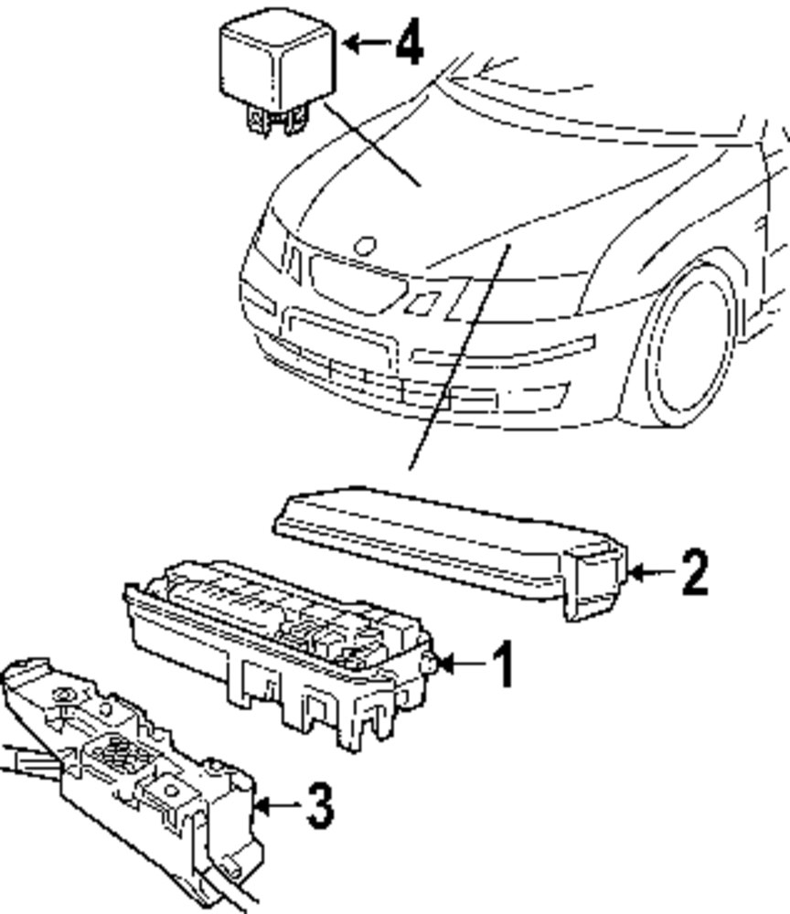 Browse A Sub Category To Buy Parts From 2005 Saab 9 2x Fuse Box Genuine Cover Sab 12787969
