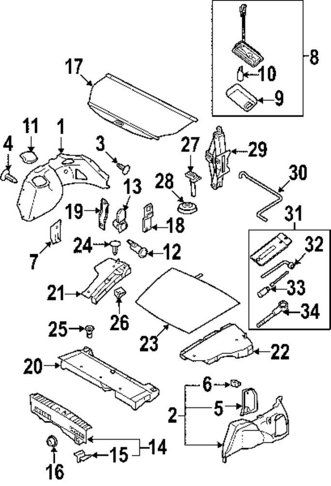 Genuine Saab Floor Mat Retainer Sab 32009037: Saab 9 3 Parts Diagram Interior At Downselot.com
