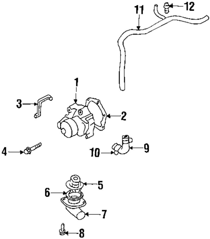 Mopar Direct Parts Dodge Chrysler Jeep Ram Wholesale Retail Subaru Cooling System Diagram Genuine Water Pump Seal Sub 21116aa010