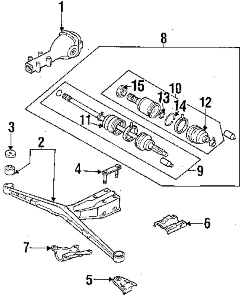 subaru rear suspension diagram