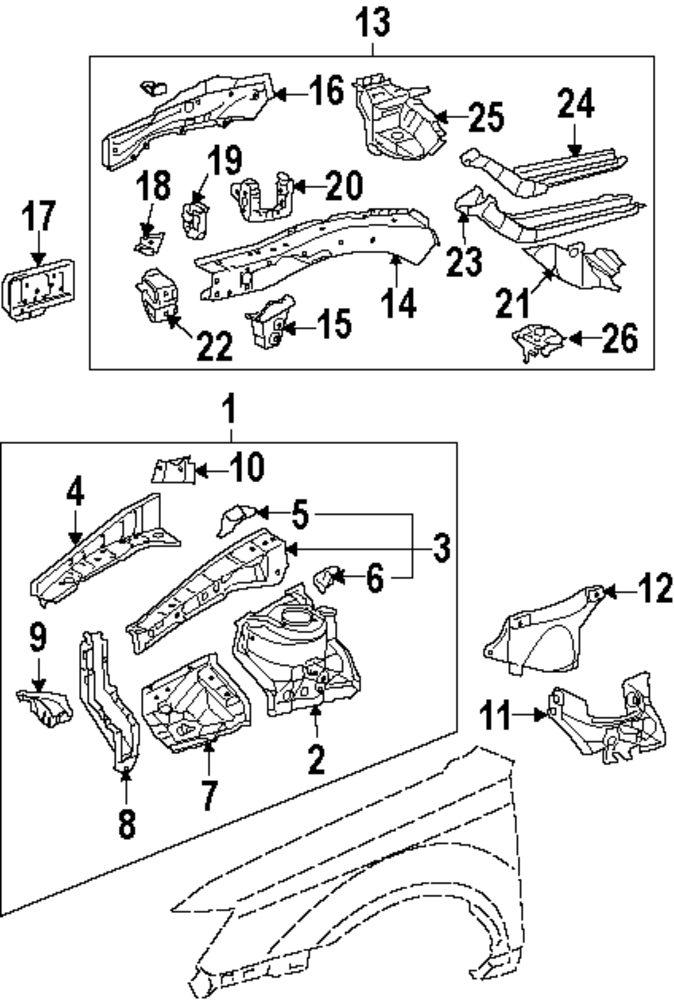 Genuine Toyota 53681-33020 Suspension Brace