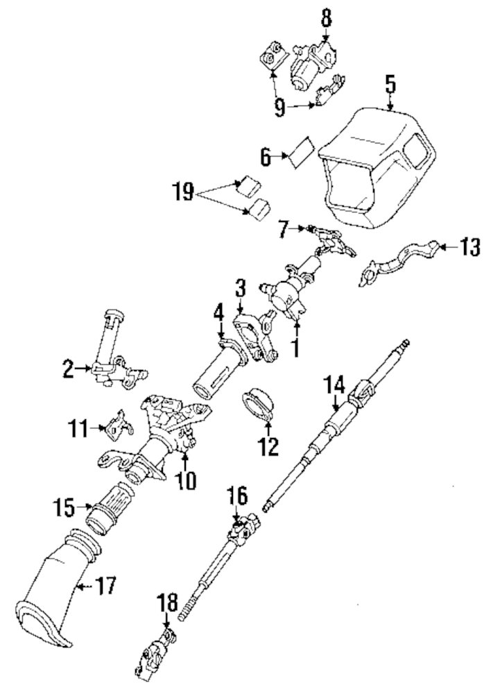 Browse A Sub Category To Buy Parts From Mopardirectparts. Genuine Lexus Intermed Shaft Lex 4526050030. GM. 1991 GMC Steering Column Parts List And Diagram At Scoala.co