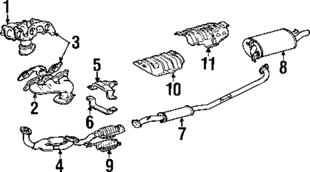lexus exhaust system diagram 2004 ford taurus exhaust system diagram #11
