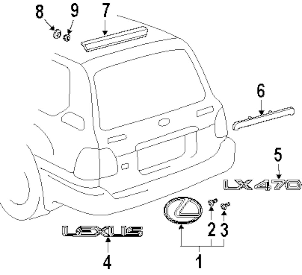 1999 lexus lx470 parts