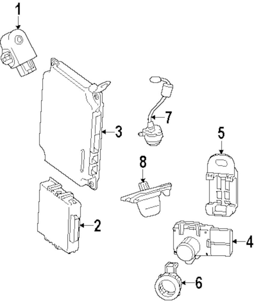 2013 Kia Optima Electrical Parts 100259 Wiring Schematic Genuine Lexus Park Sensor Retainer Lex 8934833100e4