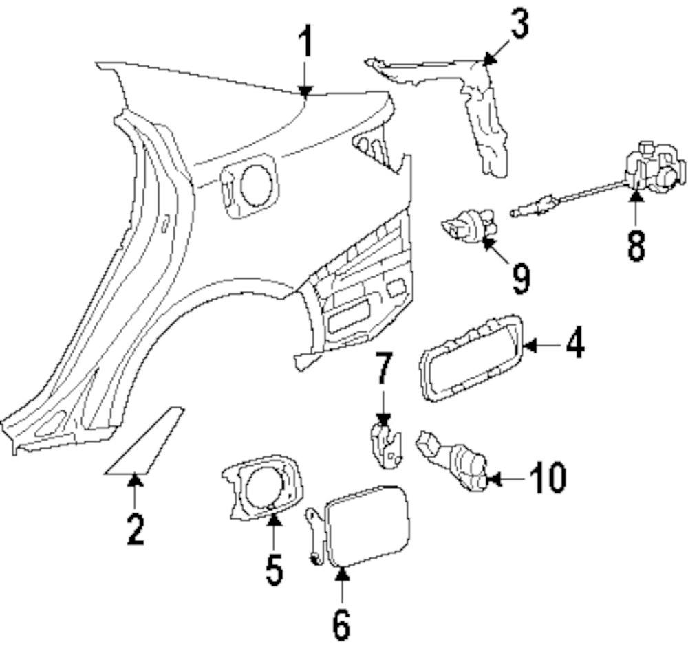 2007 Volvo S60 Quarter Panel And Components Parts Mopardirectparts Engine Diagram Genuine Lexus Protector Lex 5874153020