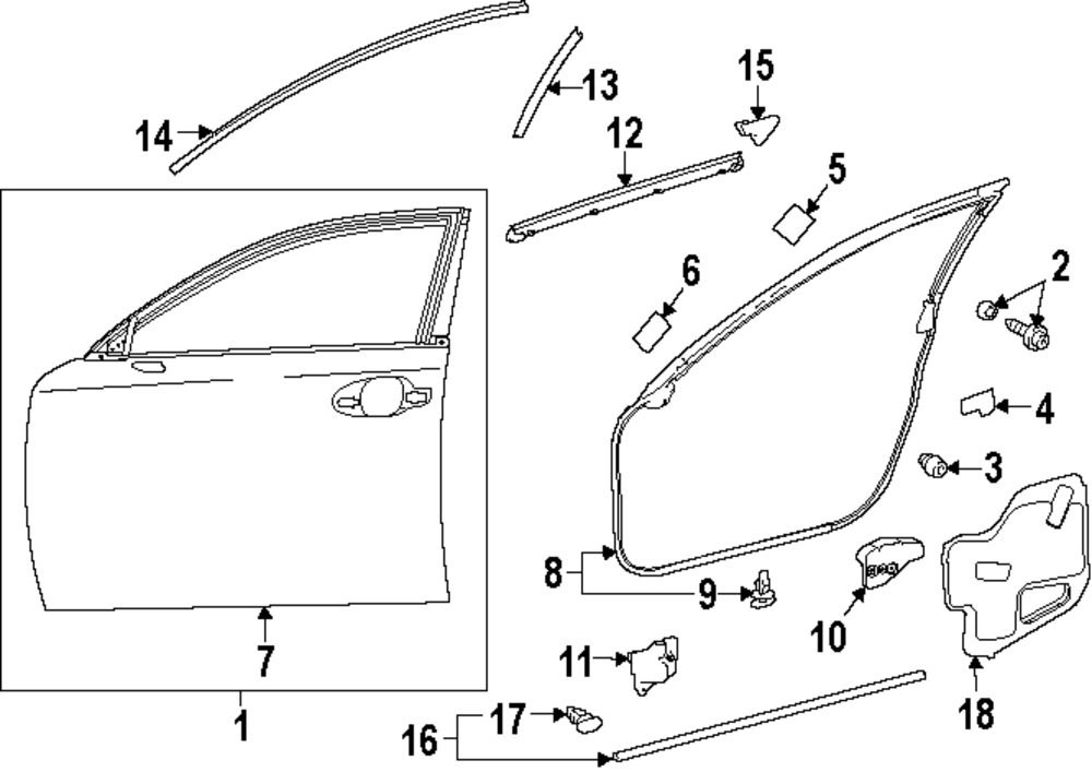 GENUINE LEXUS   DOOR SHELL SEAL   LEX 6748106010