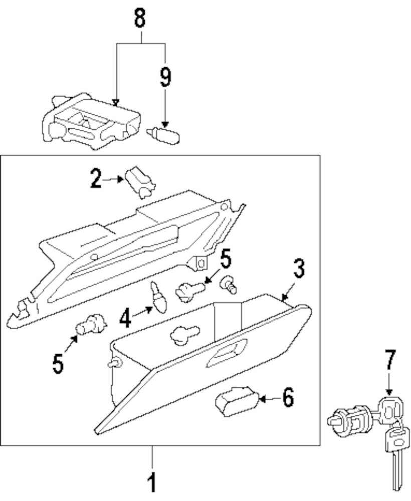 2008 mercedes benz gl320 glove box parts for Mercedes benz gl450 parts catalog