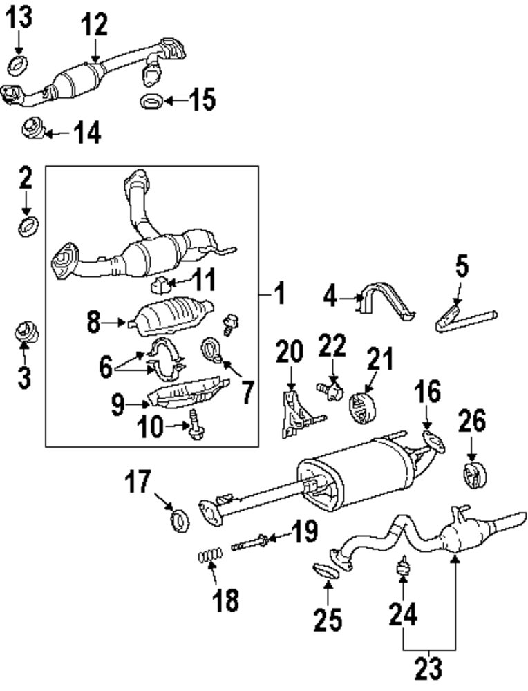 lexus rx330 exhaust diagram  lexus  auto parts catalog and