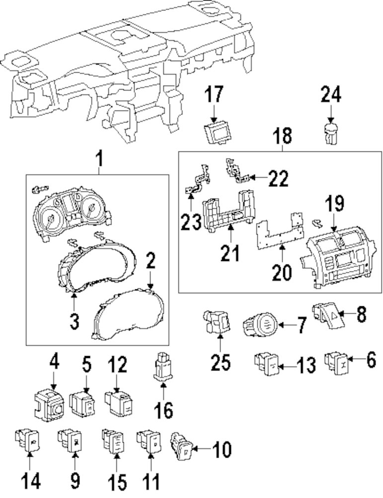 Genuine Lexus Cluster Cover Lex 8382160d70: 1997 Lexus Lx450 Radio Wiring Diagram At Hrqsolutions.co