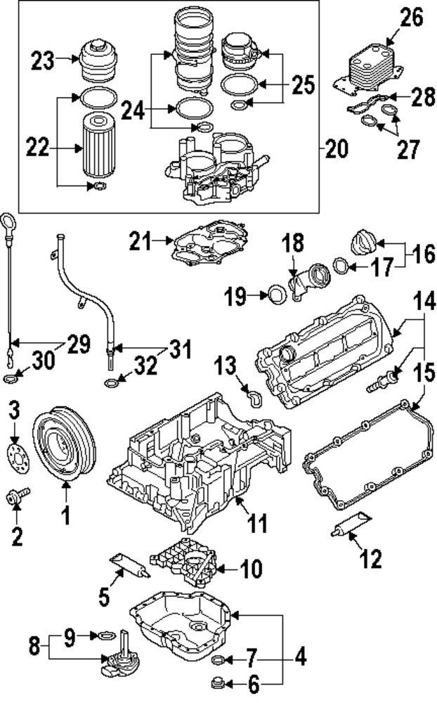 mopar direct parts dodge chrysler jeep ram wholesale retail parts VW Passat Parts Diagram genuine volkswagen upper oil pan gasket vwg 059103609l