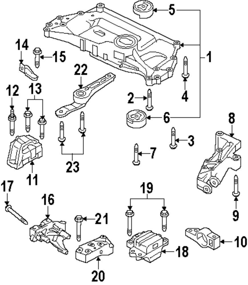 vw engine mount diagram wiring library 350Z Fuse Layout genuine volkswagen mount bracket mount bolt vwg n10680203