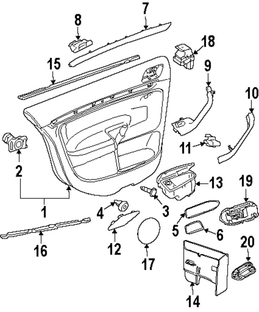 mitsubishi endeavor parts diagram rear