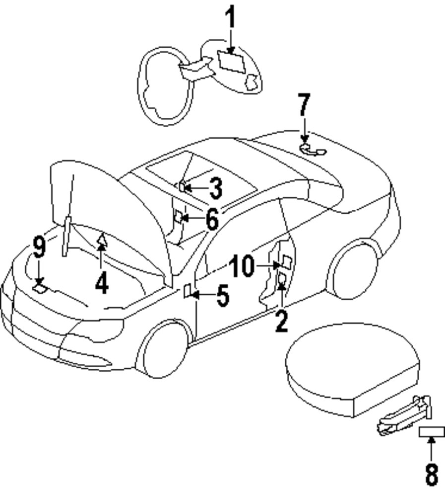 Mopar Direct Parts Dodge Chrysler Jeep Ram Wholesale Retail A Body Fuse Box Genuine Volkswagen Caution Label Vwg 1k0010467t