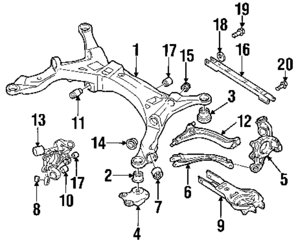 2000 volvo v70 front suspension diagram  volvo  auto parts