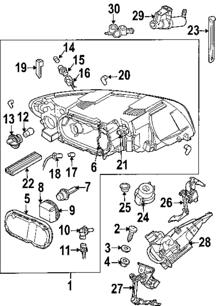 2004 volvo s40 parts diagram