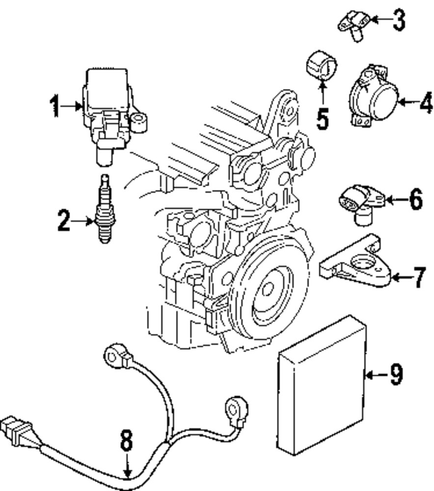 Browse A Sub Category To Buy Parts From Volvo 850 Camshaft Sensor Genuine Bracket Vol 30637802