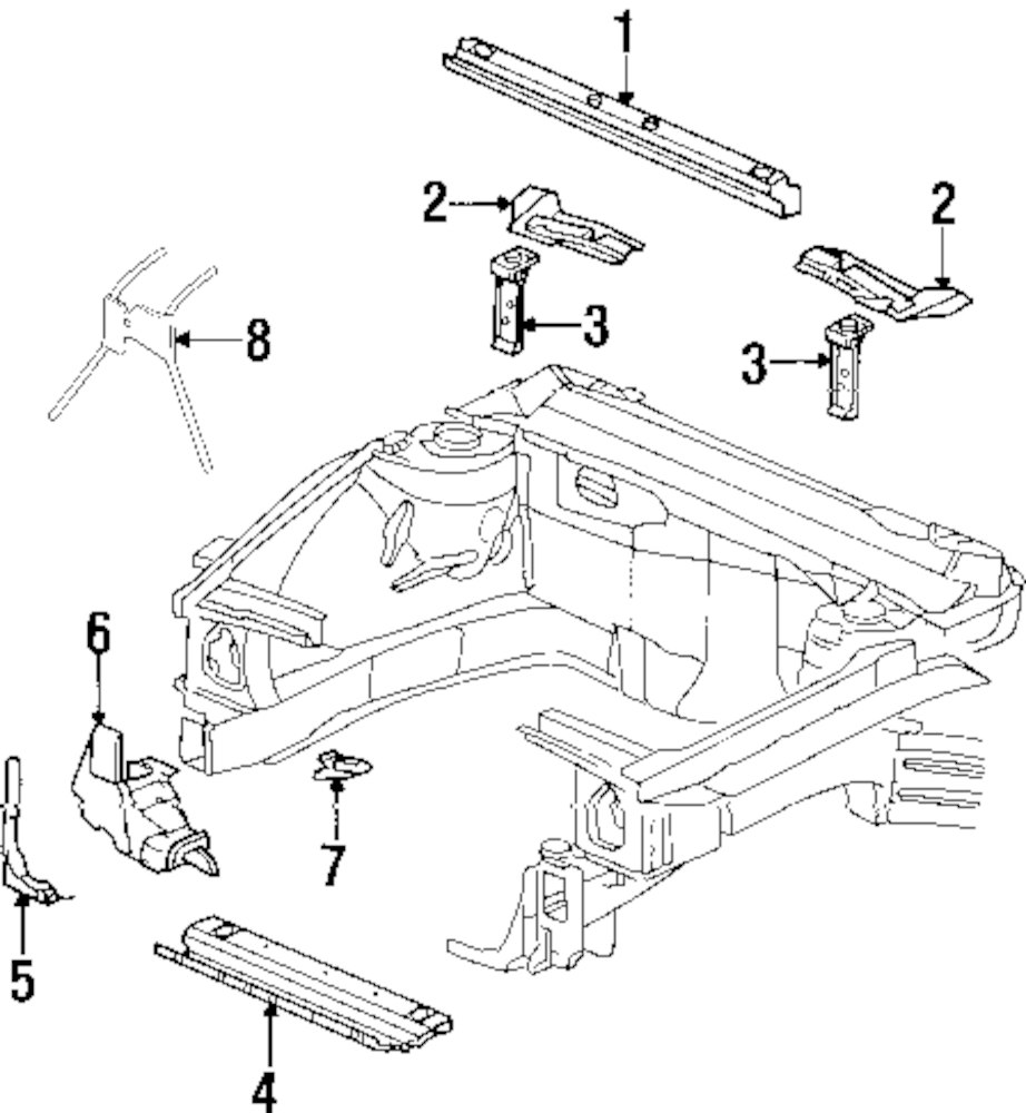 Mopar Direct Parts Dodge Chrysler Jeep Ram Wholesale Retail Buick Engine Mounts Diagram Genuine Apron Panel Bui 12480761