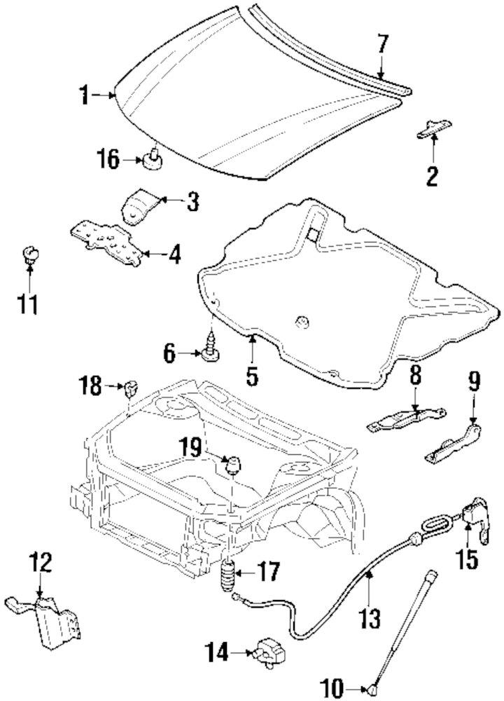 2000 Buick Century Hood Parts