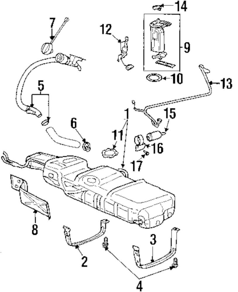 buick fuel pressure diagram wiring library Ep3 Honda Motor genuine buick fuel tank strap bui 10413417