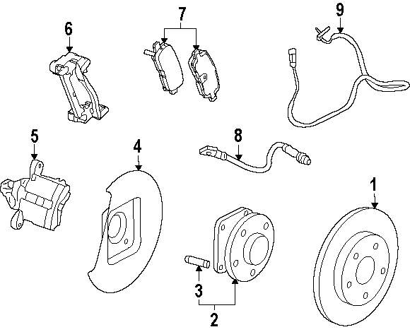 Browse A Sub Category To Buy Parts From Buick Abs Diagram Genuine Sensor Bui 22785579