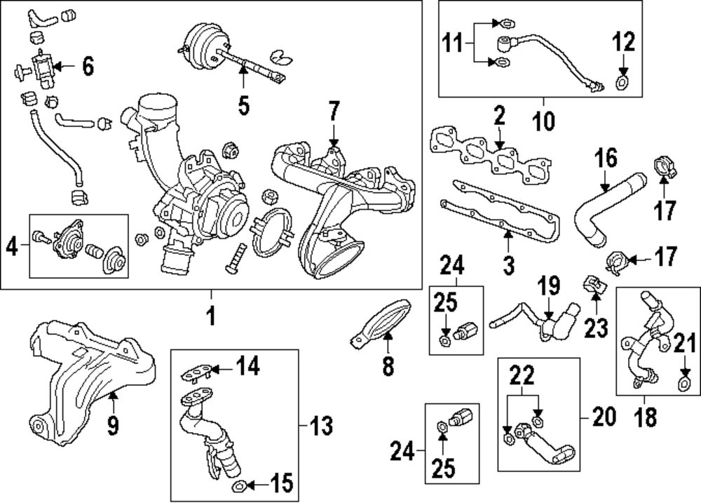 2014 buick encore engine and transaxle parts