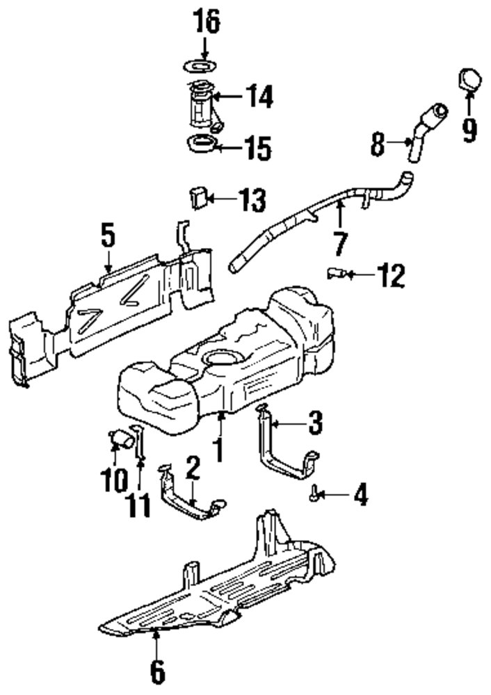 genuine buick - fuel pump retainer - bui 10325852