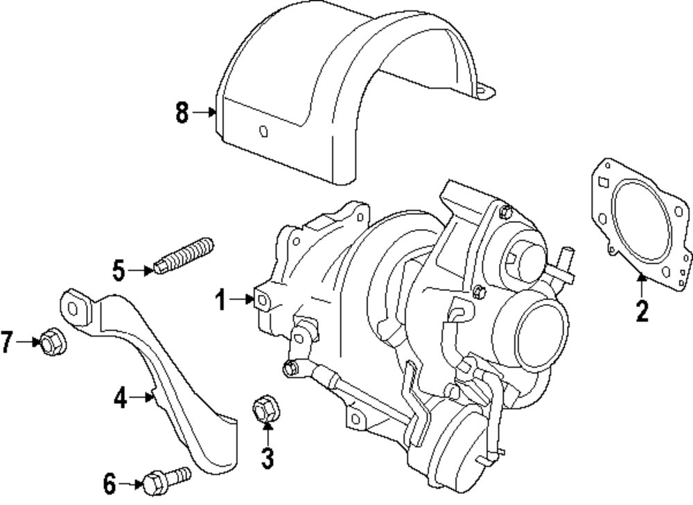 2014 Buick Verano Turbocharger And Components Parts