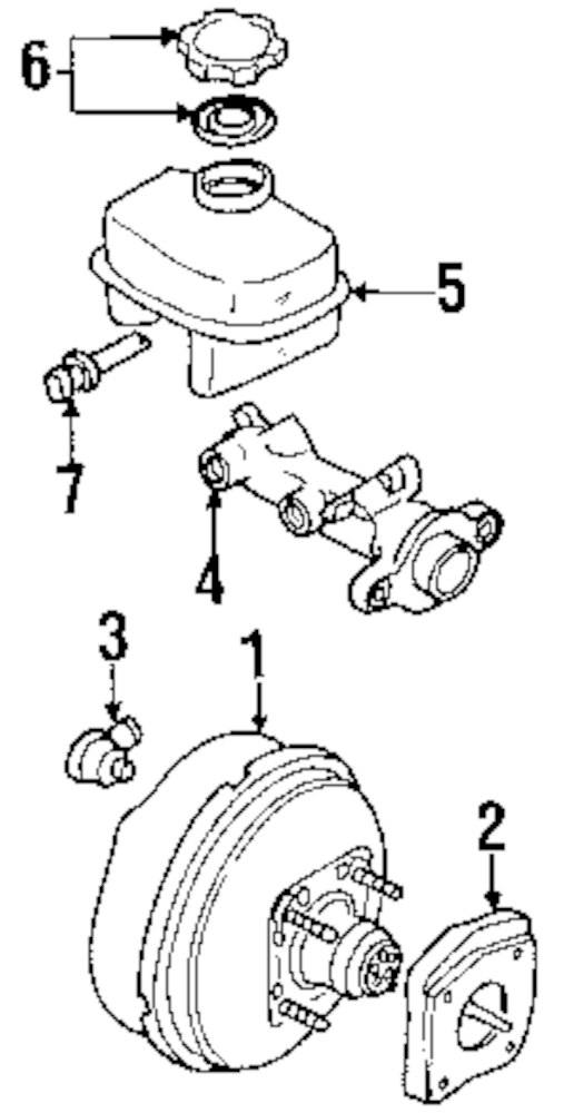 Cadillac Deville Master Cylinder