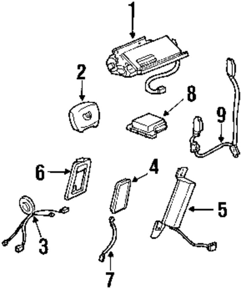 1992 DODGE MONACO Restraint Systems Parts