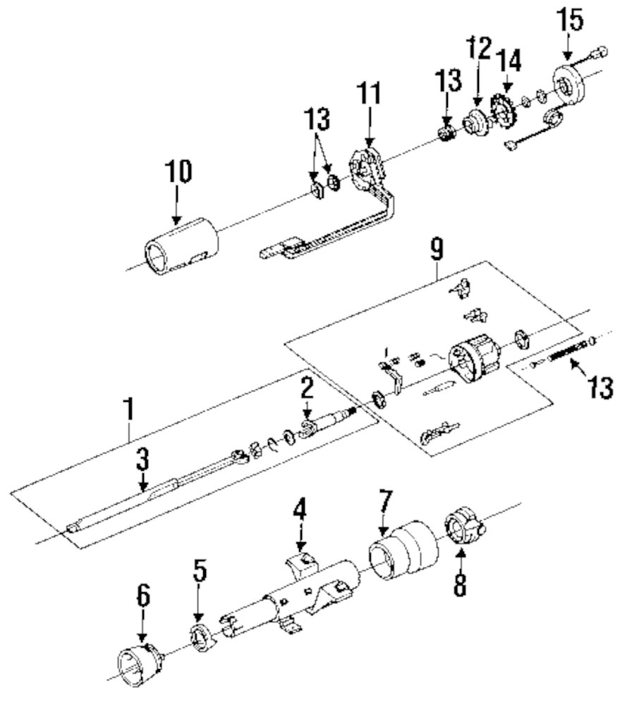 browse a sub category to buy parts from this is not a real site GM Steering Column Parts Breakdown genuine cadillac spring assy cad 7844650