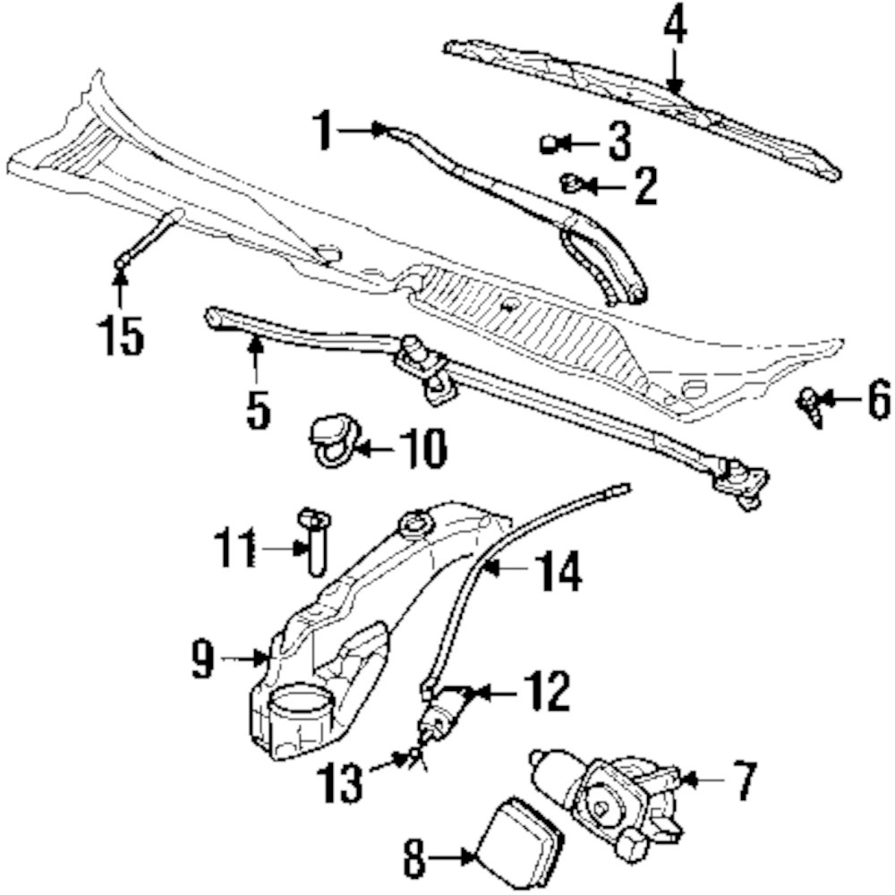 windshield wiper schematic 2003 ford f250