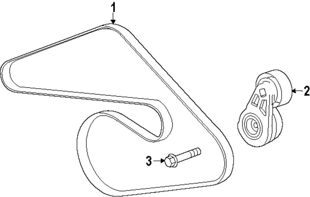 cooling system parts for cadillac Drive Shaft Diagram genuine cadillac belt tensioner bolt cad 11588745