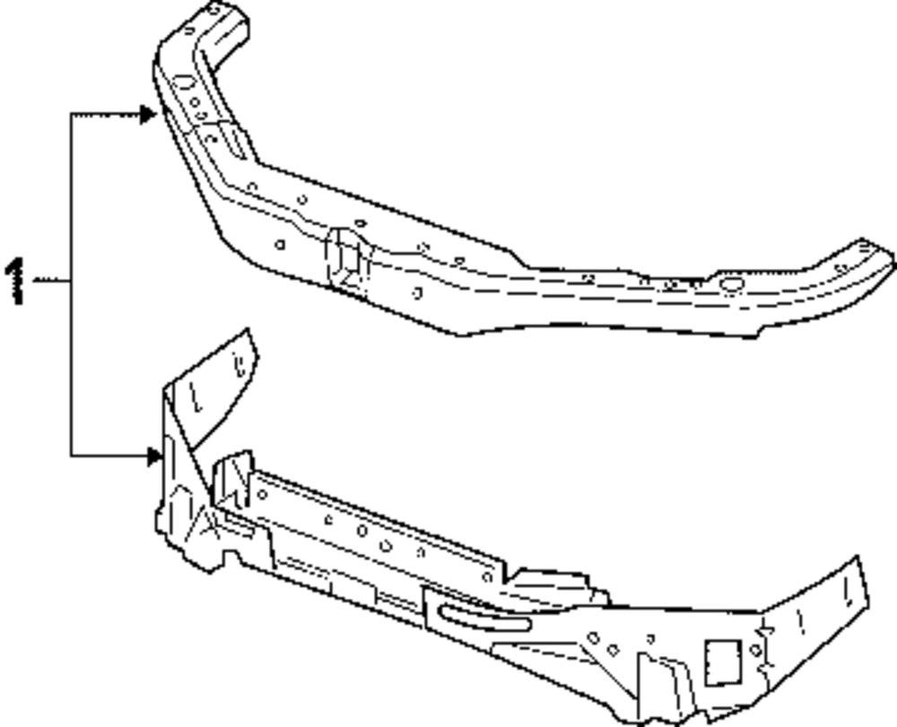 2005 chevrolet cobalt - radiator support parts