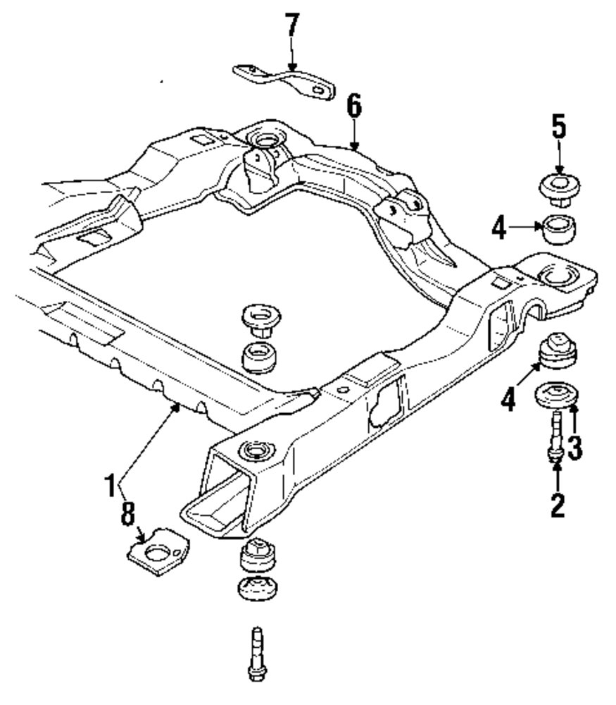 Browse A Sub Category To Buy Parts From This Is Not Real Site Oldsmobile Engine Diagram Genuine Cradle Old 10205337