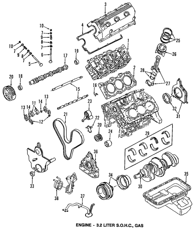 1992 isuzu trooper cylinder head and valves parts