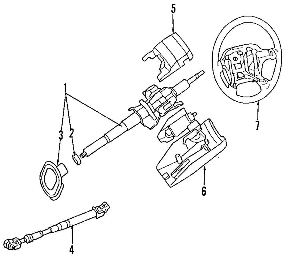Steering Column Parts For Mitsubishi Transmission Bushing Diagram Genuine Upper Cover Mit Mr714203