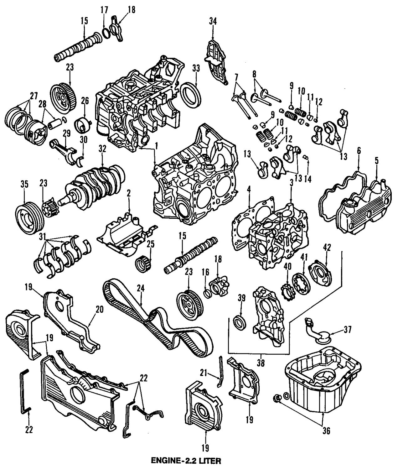 subaru ej20 engine diagram