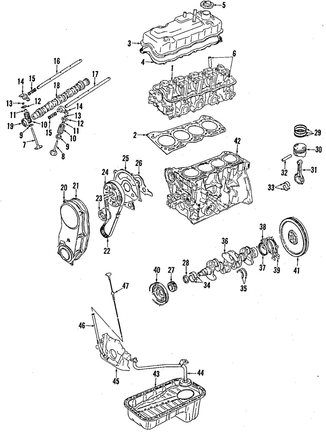 suzuki samurai engine gasket diagram