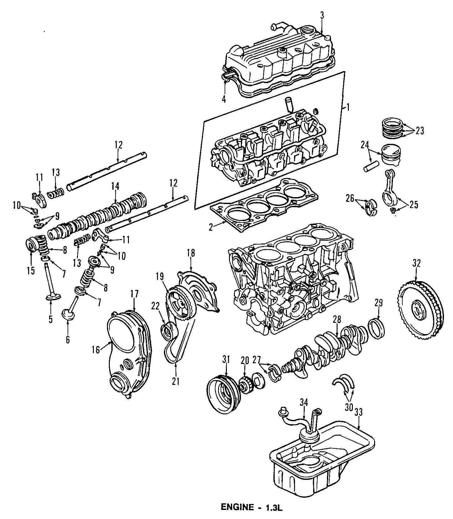 1991 Geo Metro Engine Accessories Diagram Enthusiast Wiring Diagrams 1995 Electricity Basics Rh Casamagdalena Us 91 Cylinder Head