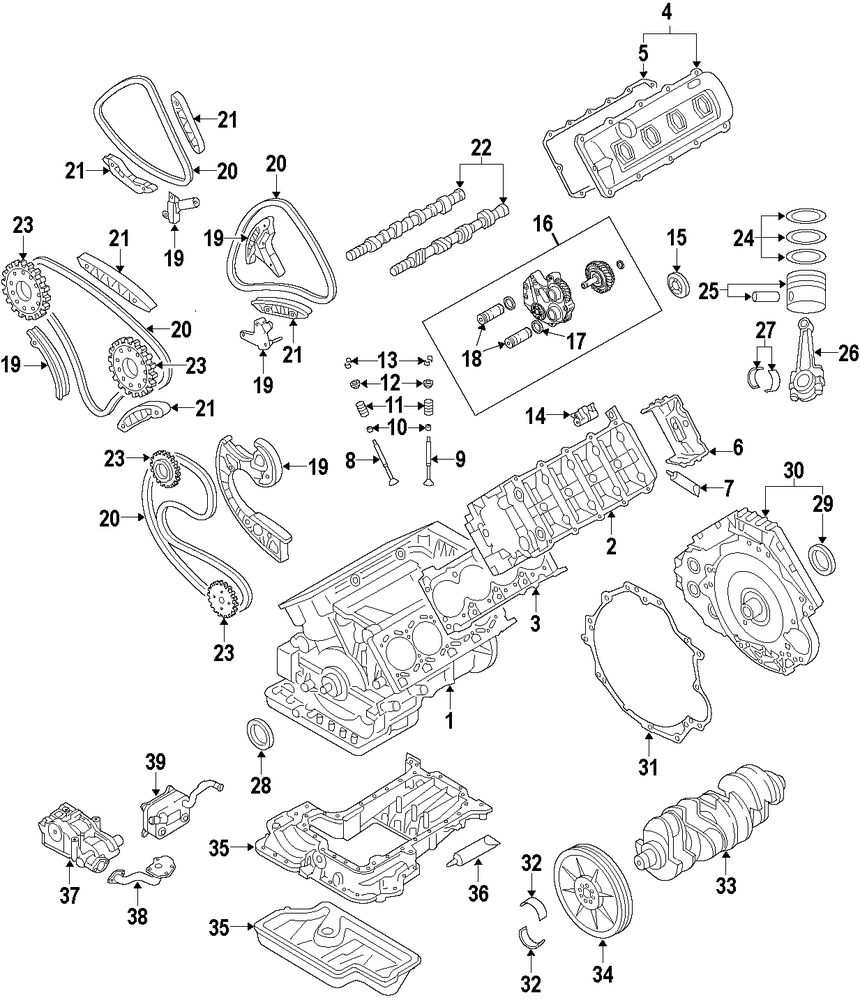 Browse A Sub Category To Buy Parts From 2016 Audi A8 Engine Diagram Genuine Cylinder Block Aud 079103011eb