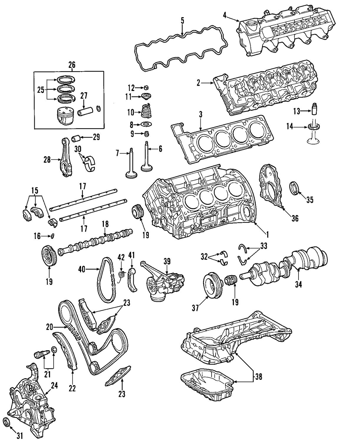 mercedes benz engine diagram