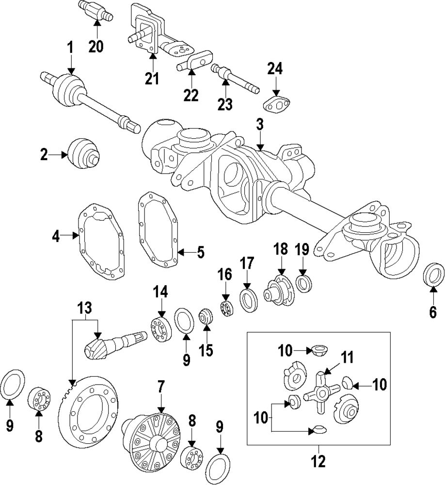 Browse A Sub Category To Buy Parts From Differential Gear Schematic Genuine Mercedes Benz Kit Mbz 6683500026
