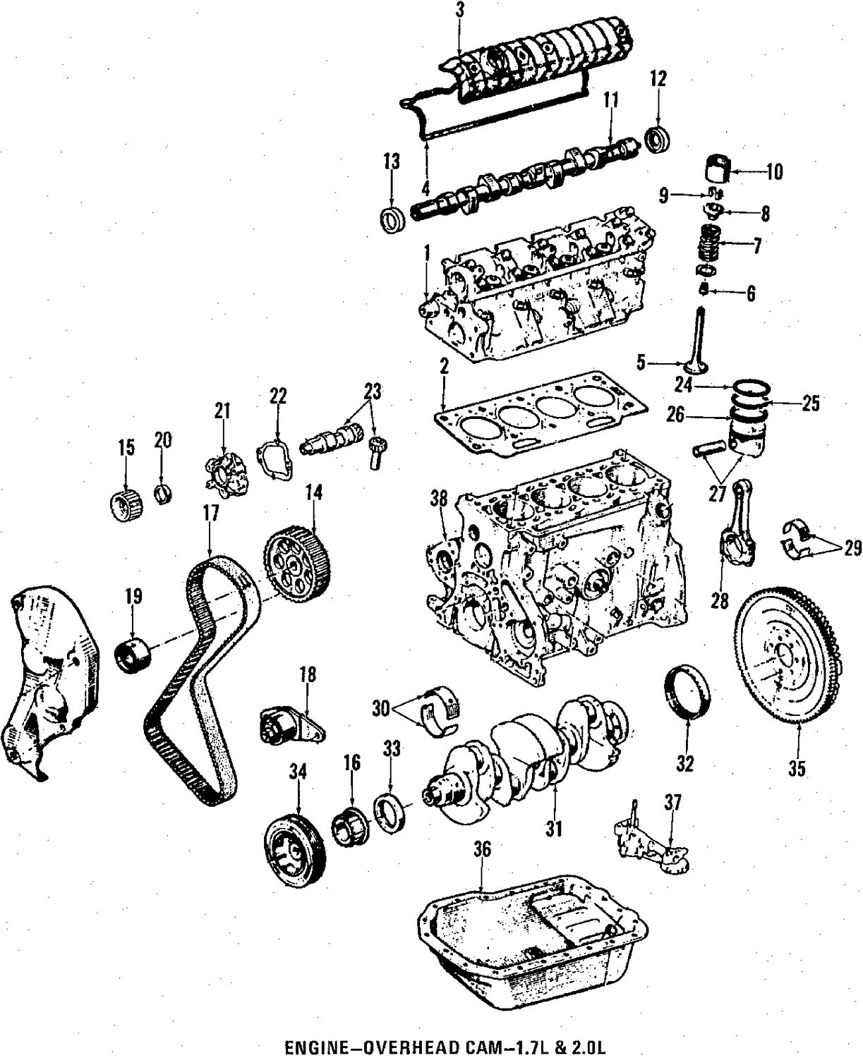 1985 renault encore camshaft and timing parts
