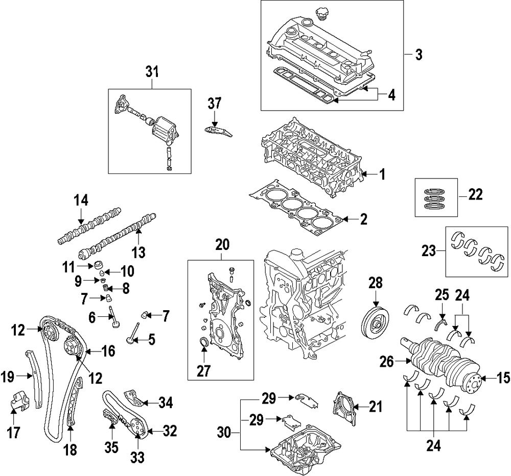 Browse A Sub Category To Buy Parts From Mazda Mx 3 Engine Diagram Genuine Lower Gasket Kit Maz Zzca10sh0
